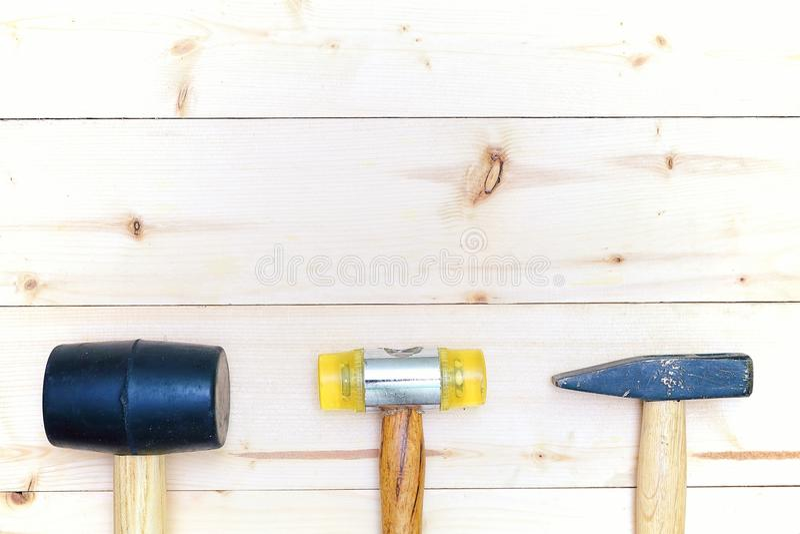 Trousse d'outils de matériel des marteaux photos stock