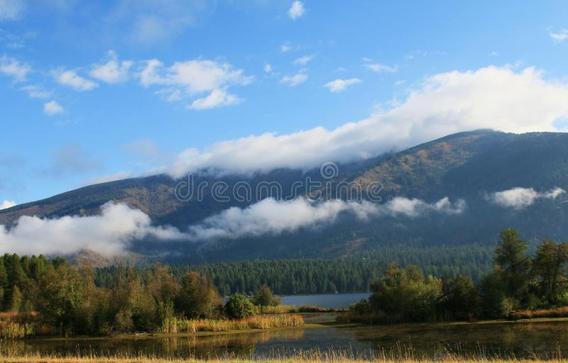 Trout Creek Montana. Mountains and lake at Trout Creek stock photography