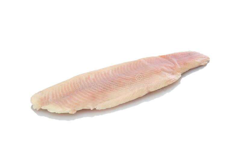 Trout filet smoked. White isolated stock photography