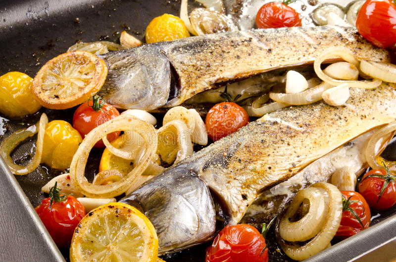 Download Trout fillet in a pan stock photo. Image of herb, roasted - 23060348