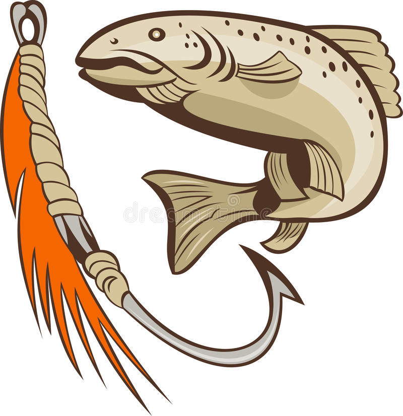 Free Trout Fish Fishing Lure Bait Hook Royalty Free Stock Photos - 15938808