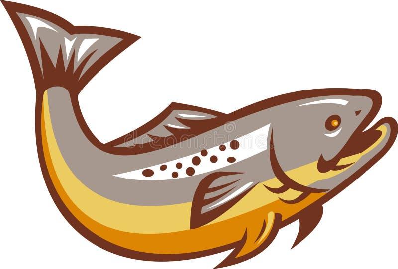 Download Trout Fish Jumping Retro stock illustration. Illustration of fish - 26945976