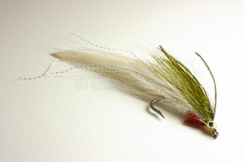 Trout lure for fly fishing stock image