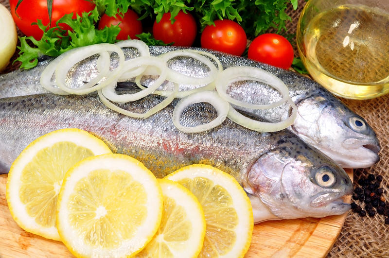 Download Trout stock image. Image of lunch, healthy, catch, scales - 39504099