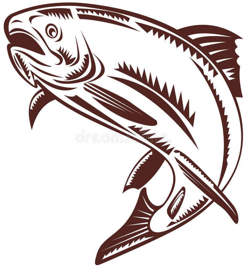 Free Trout Woodcut Style Stock Photography - 6031272