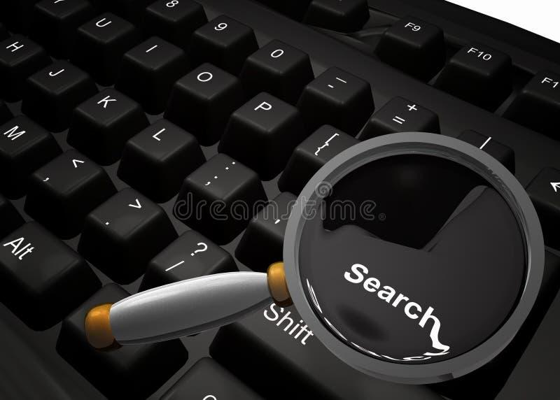 Trouvaille quelque chose sur le symbole d'Internet illustration stock
