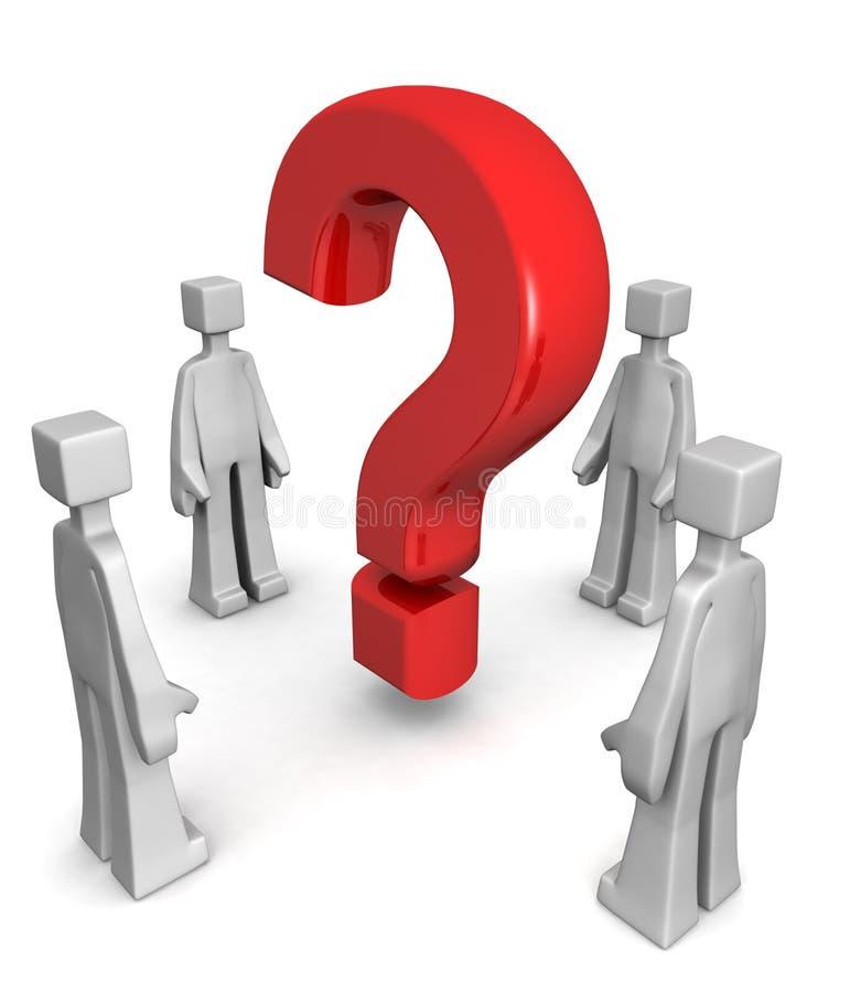 Trouvant la réponse ou résoudre le concept de problème illustration de vecteur