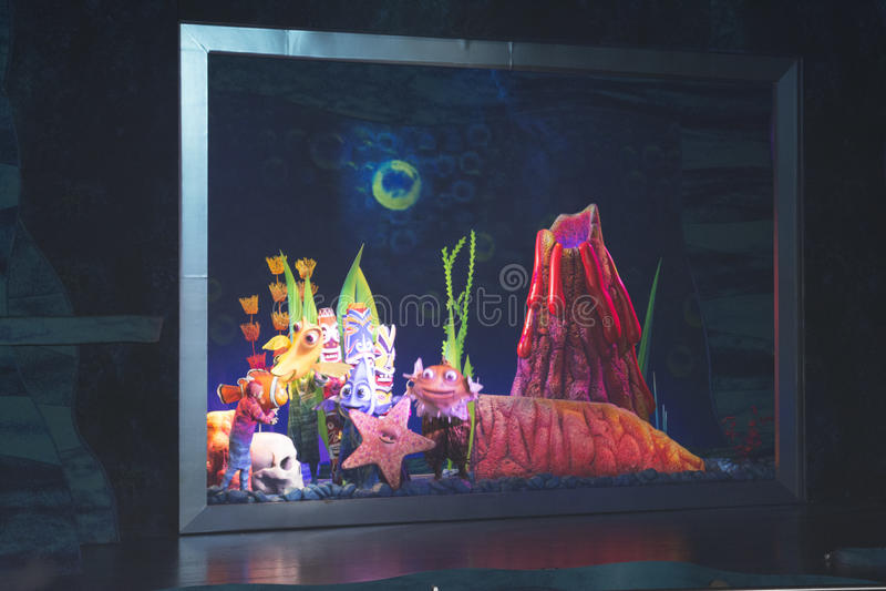 Trouvant Nemo - le musical image stock