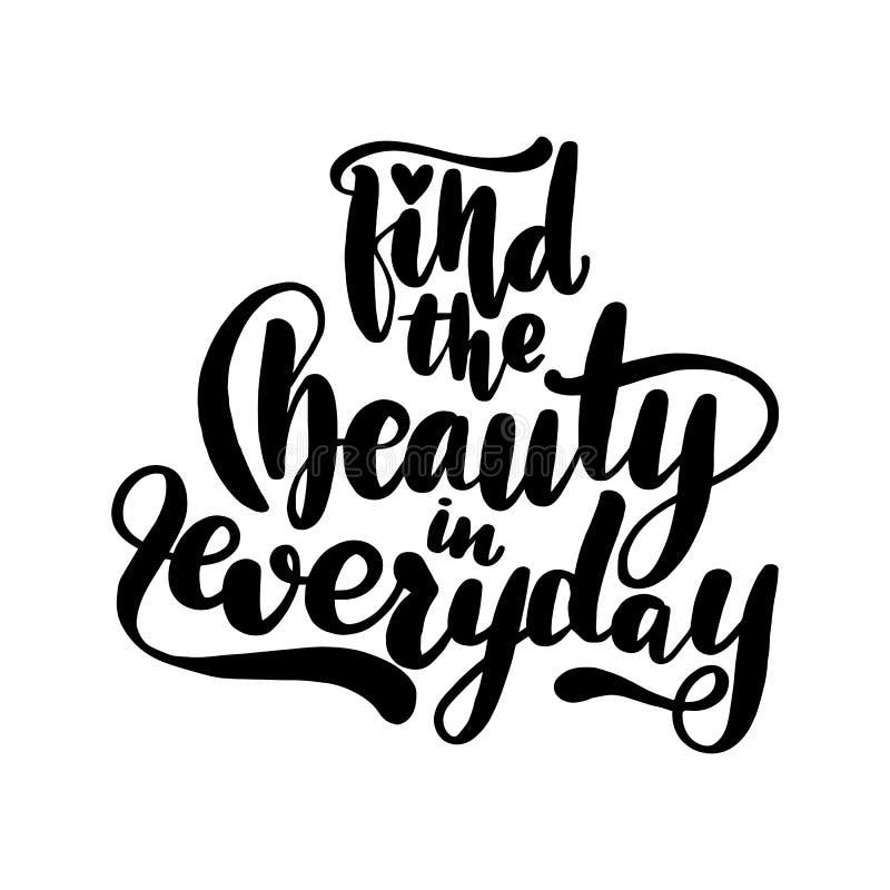 Trouvez la beauté dans quotidien illustration de vecteur