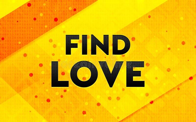 Trouvez le fond jaune de bannière numérique abstraite d'amour illustration stock