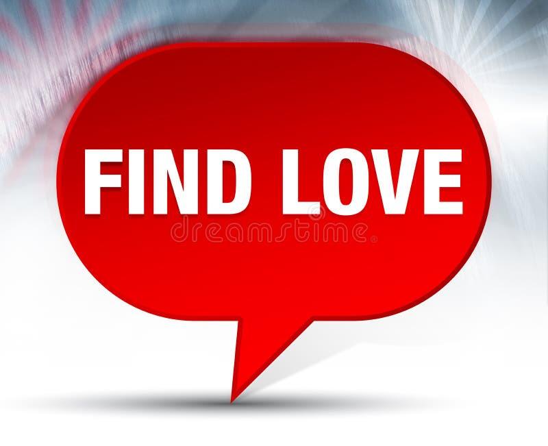 Trouvez le fond rouge de bulle d'amour illustration libre de droits