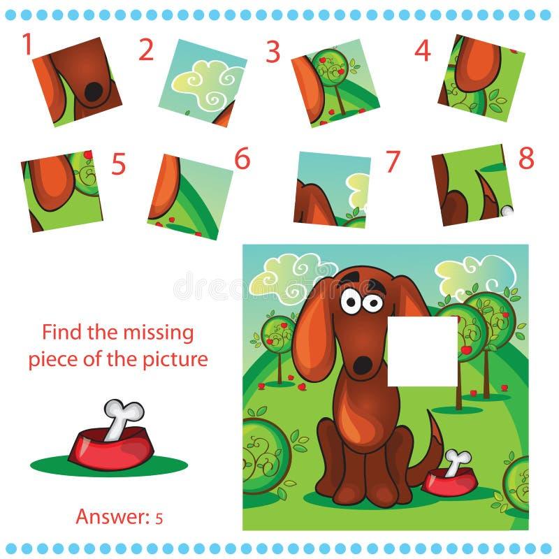 Trouvez le morceau absent - déconcertez le jeu pour des enfants illustration libre de droits