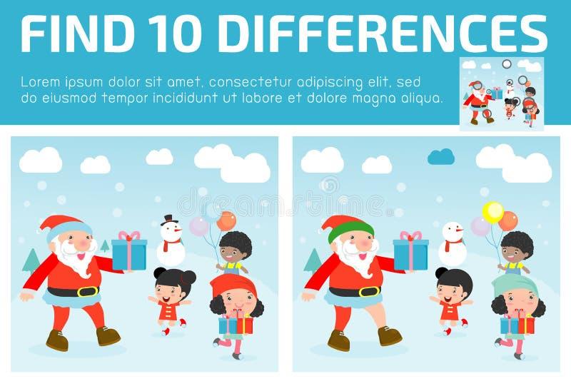 Trouvez les différences, jeu pour des enfants, différences de découverte, jeux de cerveau, le jeu d'enfants, jeu éducatif pour le illustration stock