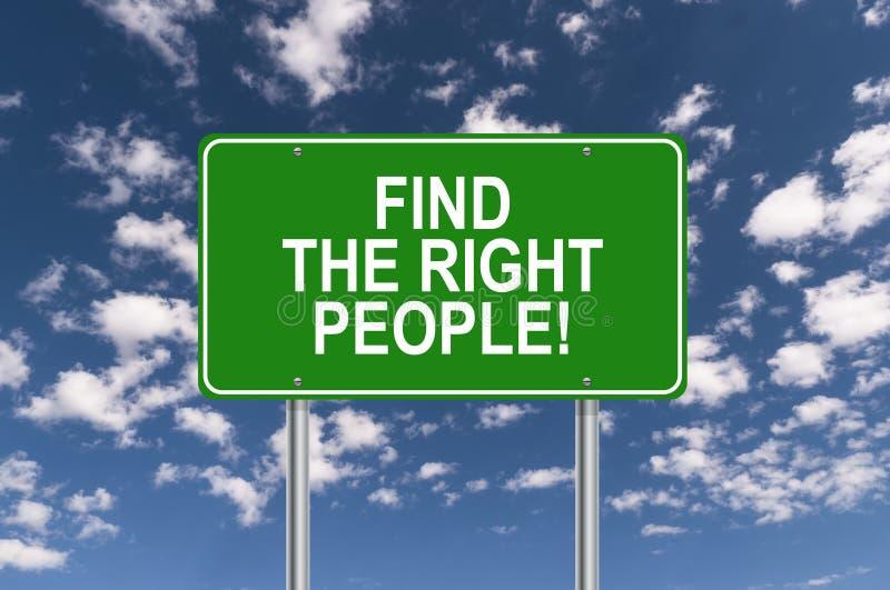 Trouvez les personnes concernées illustration libre de droits