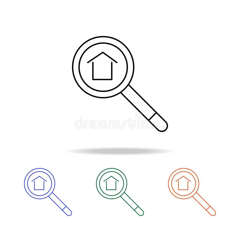 Trouvez une icône de Real Estate Éléments des immobiliers dans les icônes colorées multi Icône de la meilleure qualité de concept illustration stock