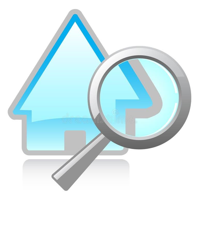 Trouvez une maison illustration libre de droits