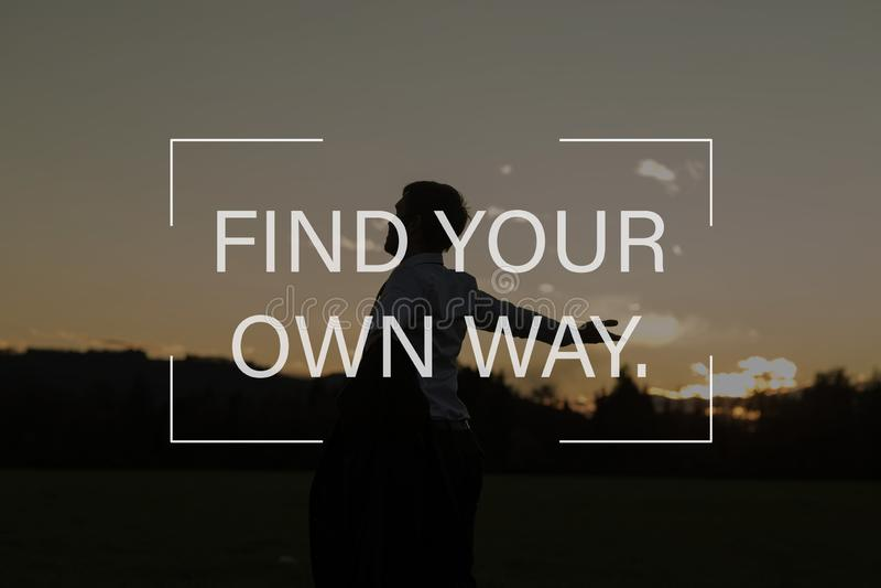 Trouvez votre propre chemin photographie stock libre de droits