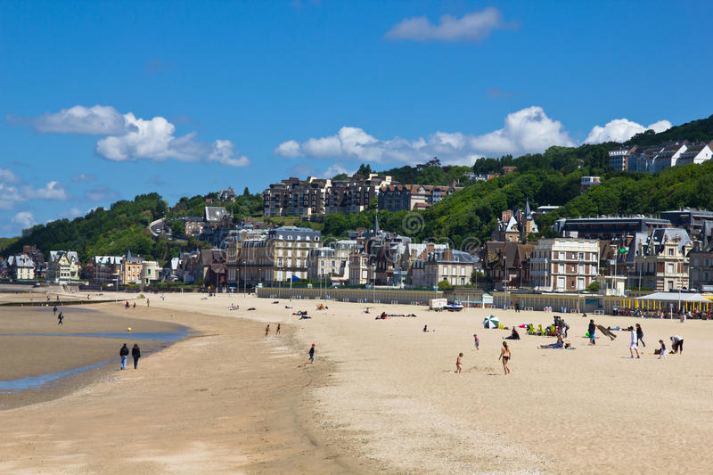 Download Trouville beach stock photo. Image of deauville, clouds - 20568862