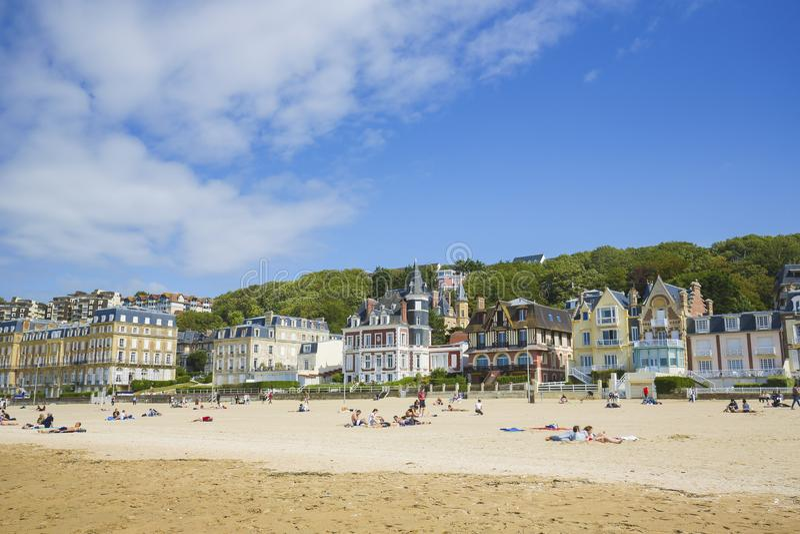 Trouville, Calvados, Normandy, Frankrijk stock fotografie