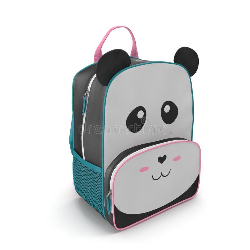 Trouxa Panda Design do ` s da criança em um branco ilustração 3D ilustração royalty free