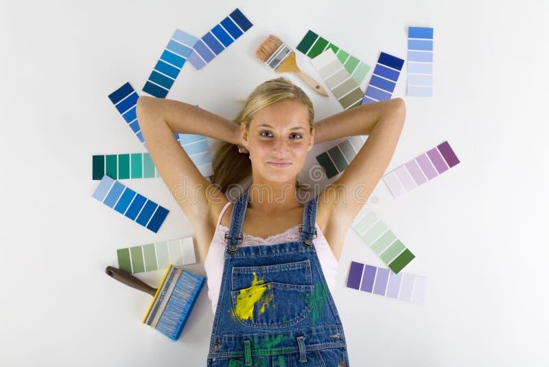 Trovandosi fra i colori immagini stock
