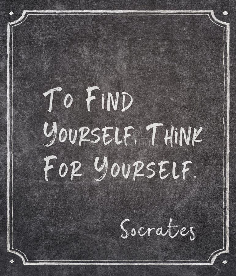 Trovi citazione di Socrates immagine stock