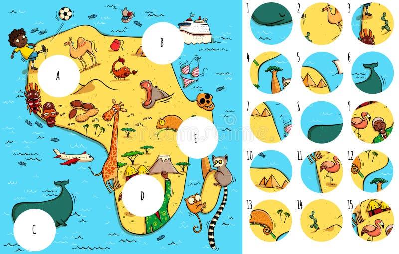 Trovi i pezzi mancanti, soluzione nello strato nascosto illustrazione vettoriale