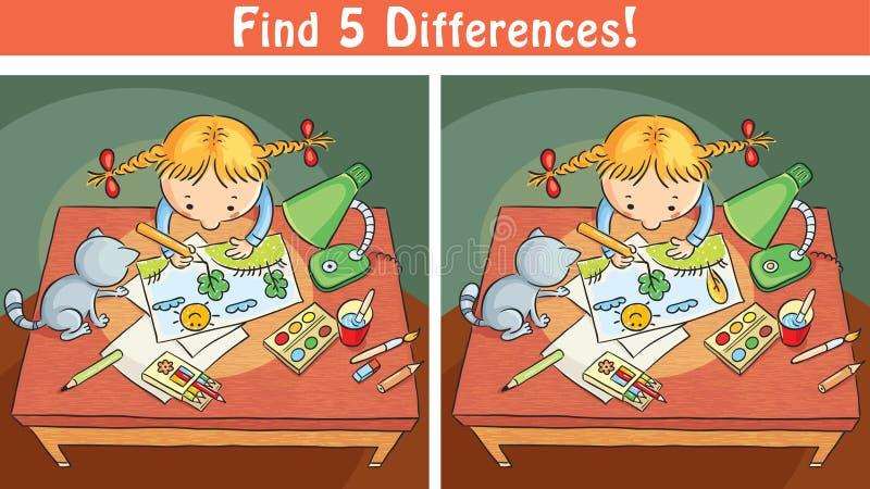 Trovi il gioco di differenze con una ragazza del fumetto - Immagine di una ragazza a colori ...