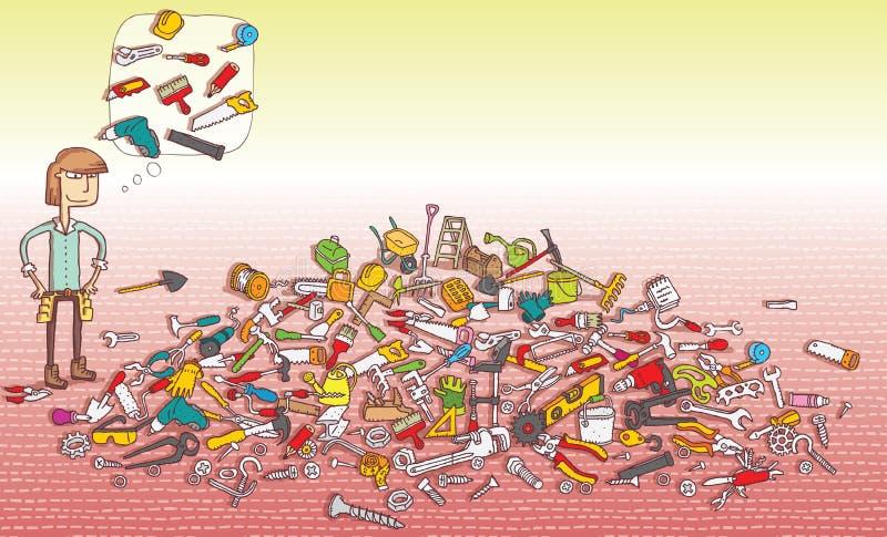 Trovi il gioco di rappresentazione degli oggetti Soluzione nello strato nascosto! illustrazione di stock