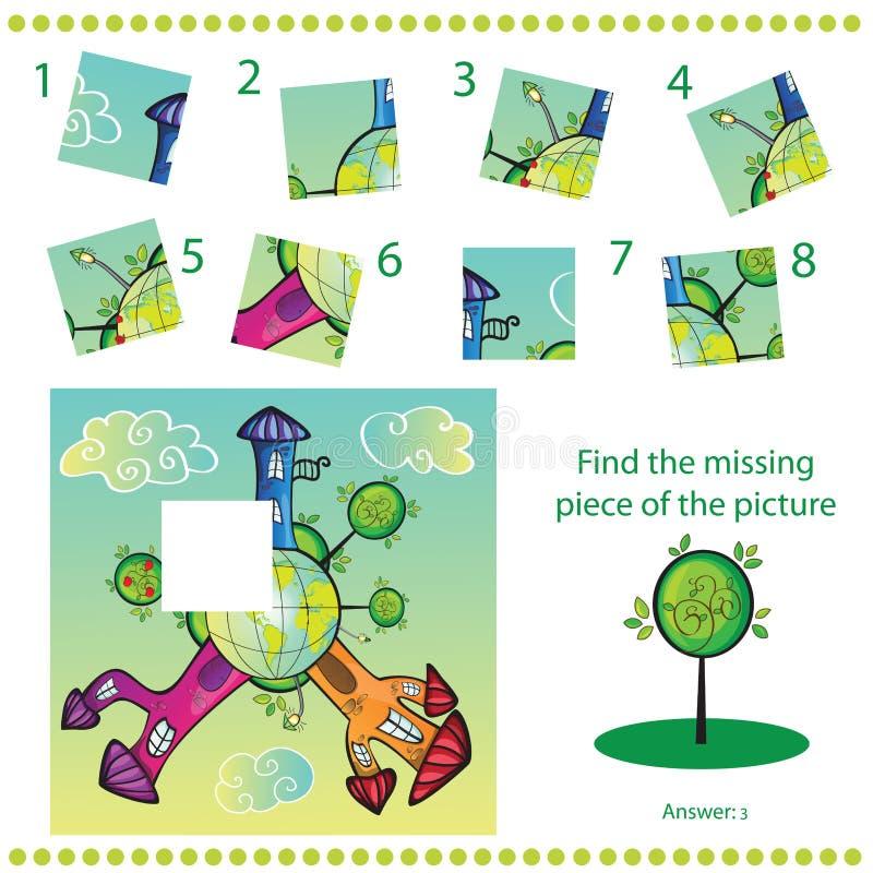 Trovi il pezzo mancante - imbarazzi il gioco per i bambini royalty illustrazione gratis