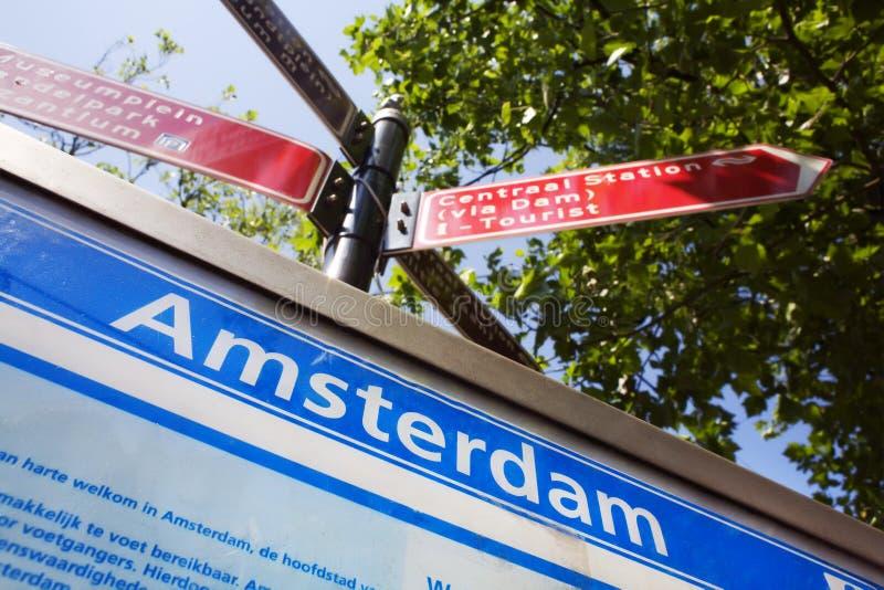 Trovi il vostro modo a Amsterdam fotografie stock libere da diritti