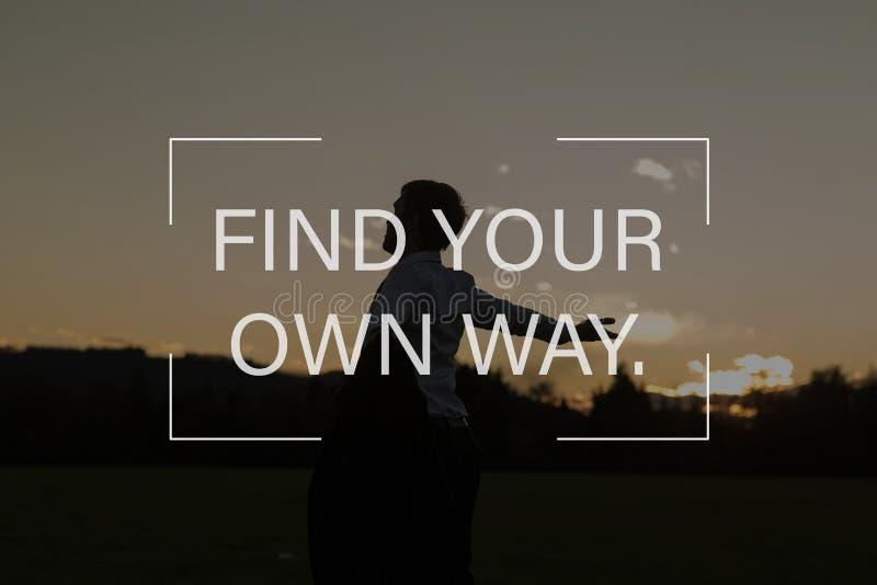 Trovi il vostro proprio modo fotografia stock libera da diritti