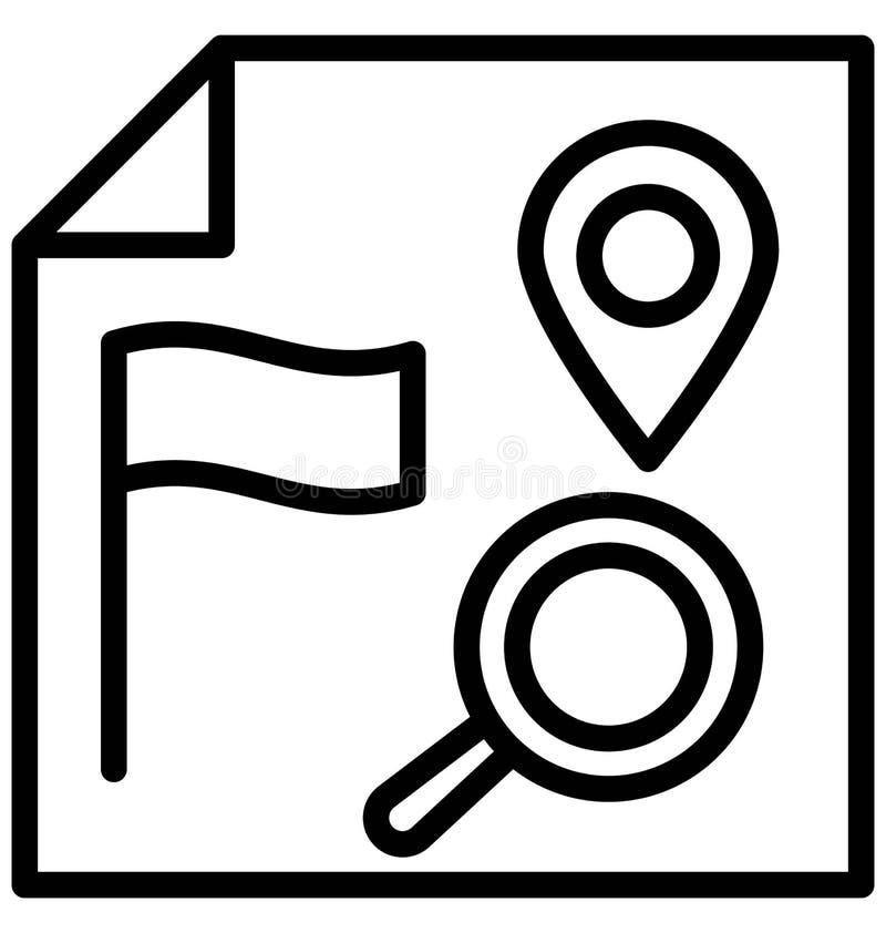 Trovi l'icona di vettore isolata posizione che pu? modificare o pubblicare facilmente royalty illustrazione gratis