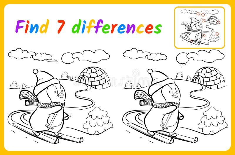 Trovi le differenze illustrazione vettoriale