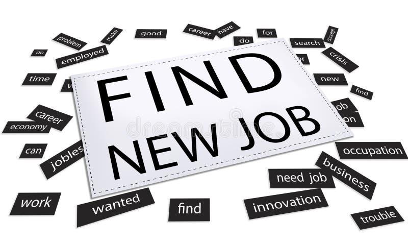 Trovi nuovo Job Application Work Concept illustrazione vettoriale
