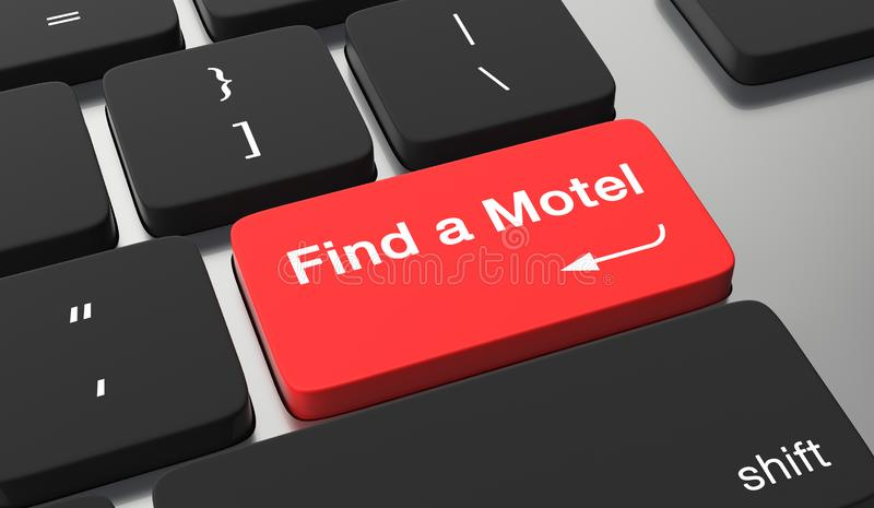 Trovi un concetto del motel royalty illustrazione gratis