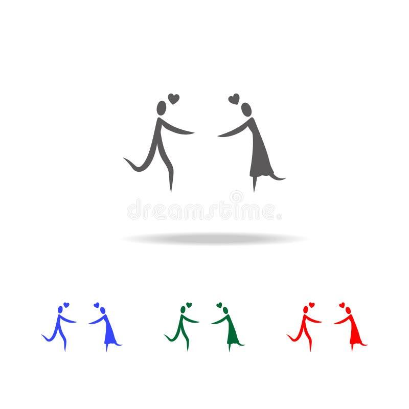 trovi un'icona di caro Elementi del San Valentino nelle multi icone colorate Icona premio di progettazione grafica di qualità Ico royalty illustrazione gratis