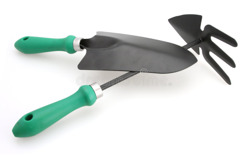Download Trowel And Cutivator White Backgroung Royalty Free Stock Photos - Image: 4404968