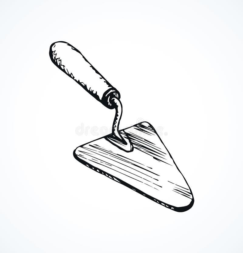 trowel Desenho do vetor ilustração stock