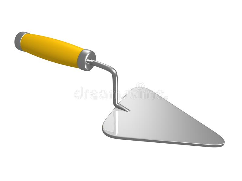 Download Trowel on white background stock illustration. Image of closeup - 21446140