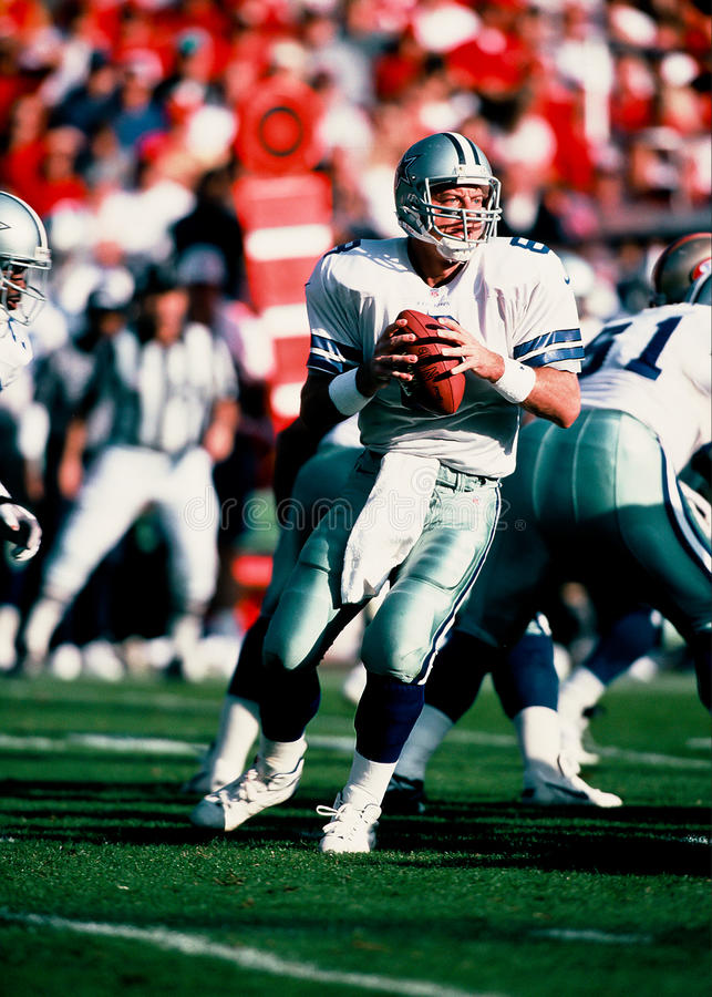 Troy Aikman Dallas Cowboys quarterback royalty free stock images