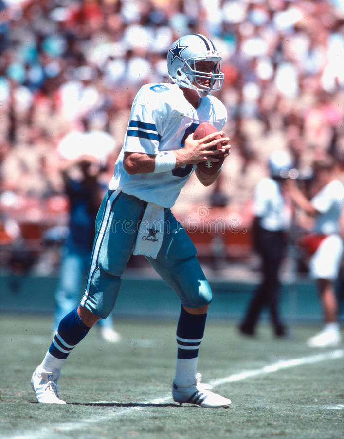 Troy Aikman Dallas Cowboys quarterback stock image