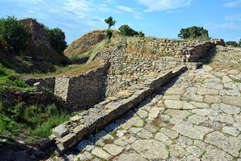 Troy Ancient City Turkiet royaltyfri fotografi