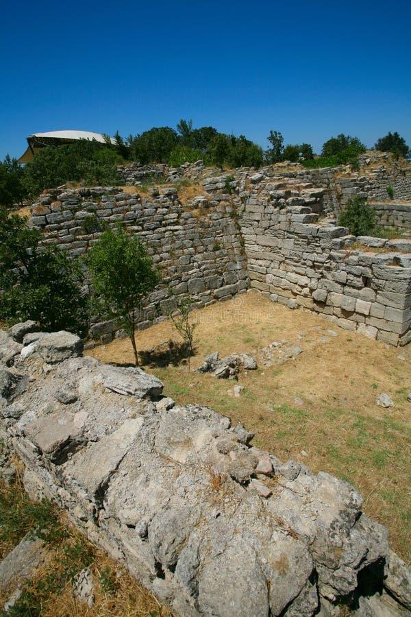 troy forntida stad arkivfoto