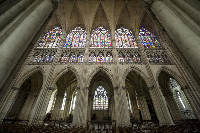 Troyes - catedral imagens de stock