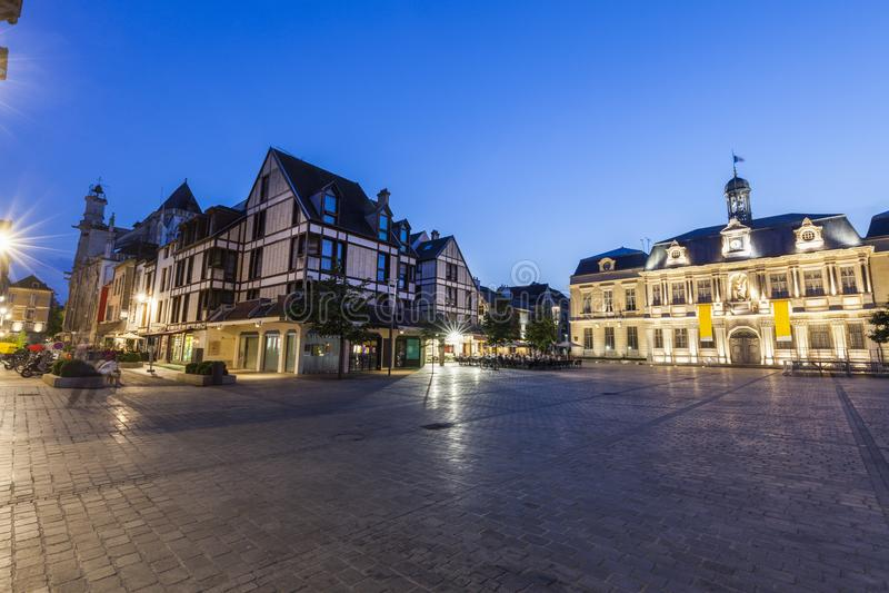 Troyesstadhuis stock afbeelding