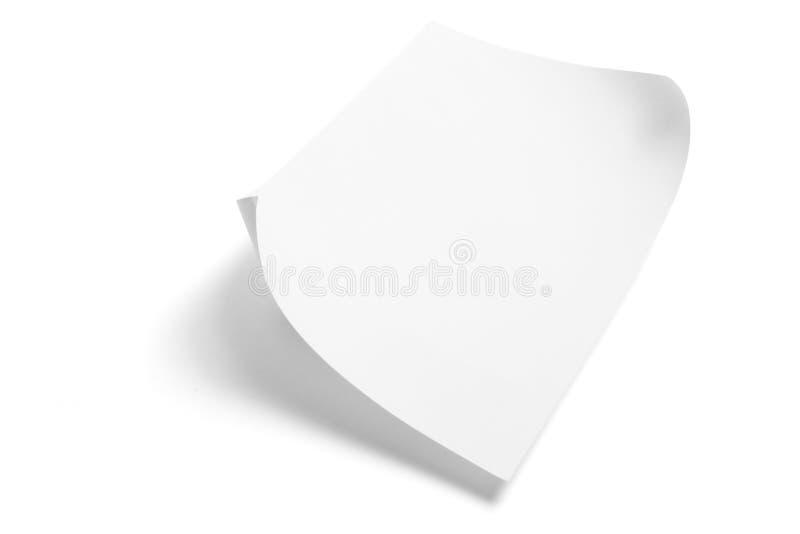 Trozo de papel fotos de archivo