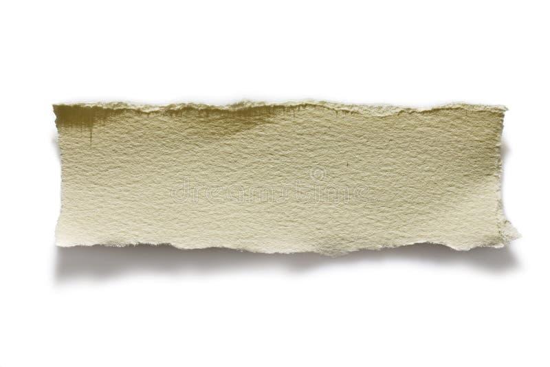 Trozo de papel imagen de archivo libre de regalías