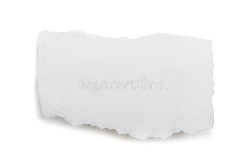 Trozo de papel rasgado foto de archivo libre de regalías