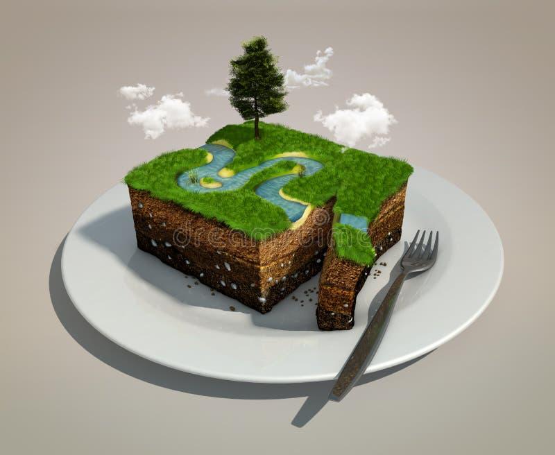 Trozo de tierra libre illustration